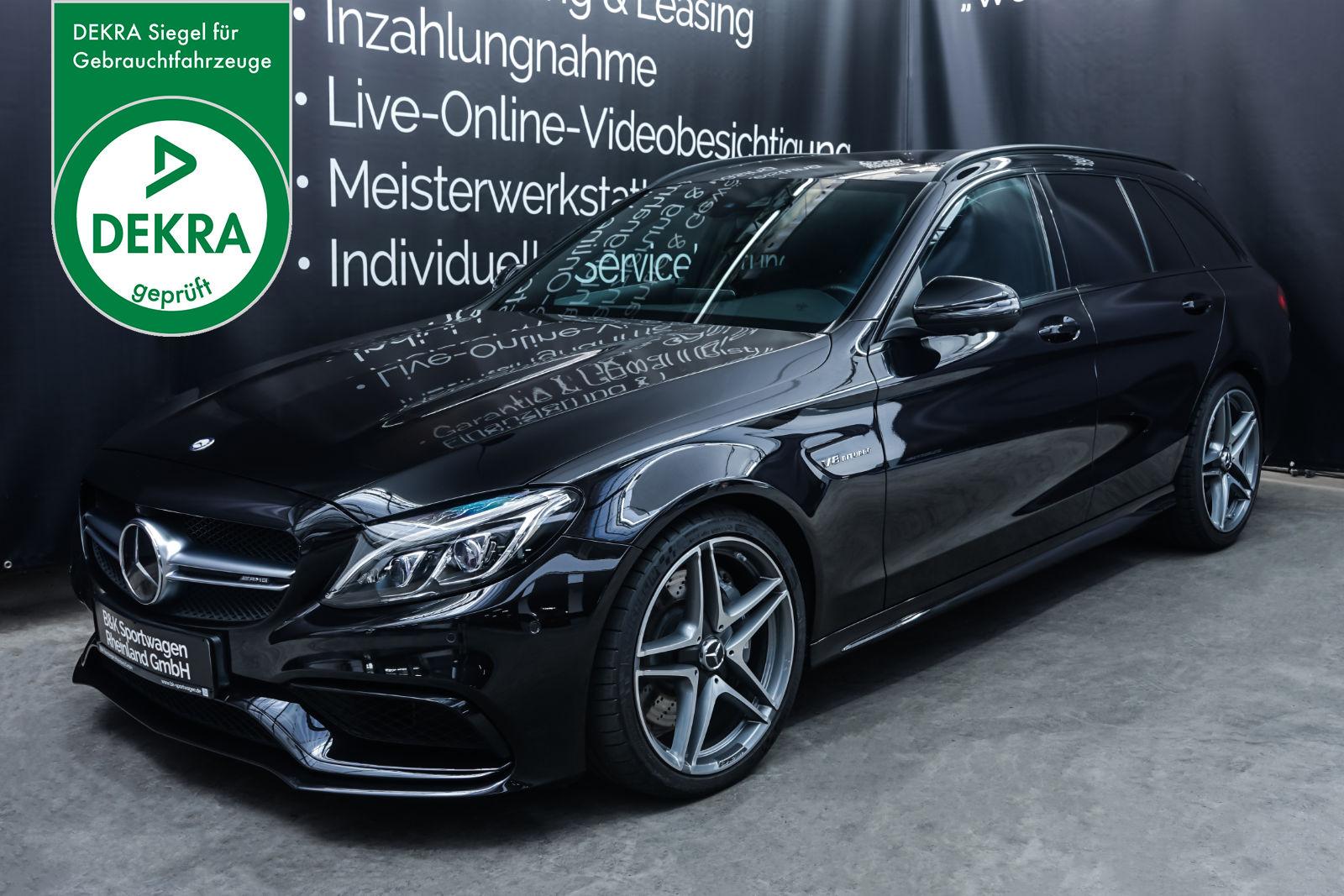 MercedesBenz_C63AMG_TModell_Schwarz_Schwarz_MB-9387_Plakette_w