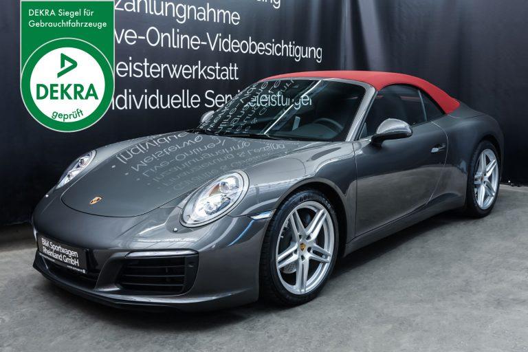 Porsche_991_Cabrio_Grau_Schwarz_POR-9143_Plakette_w