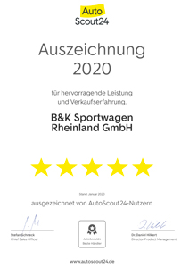 удовлетворенность клиентов_b & k_sportwagen_rheinland_gmbh_auszeichnung_autoscout24_mobile_2020